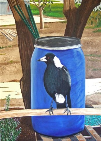 Magpie & Olive Tree Artists Garden