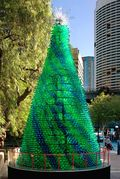 Recycled bottle Xmas Tree