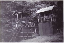 Rabaul gallows c 1946 - Backhouse