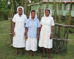Sister Imelda (EducationOffice), Sister Evelyn (Pastoral assistant at St Gerard's Parish) and Sister Marylin Akonoh (Education Office)