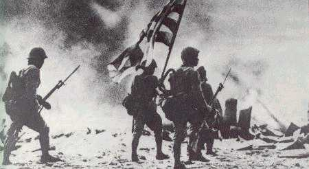 Japanese marines attack Rabaul, 23 January 1942