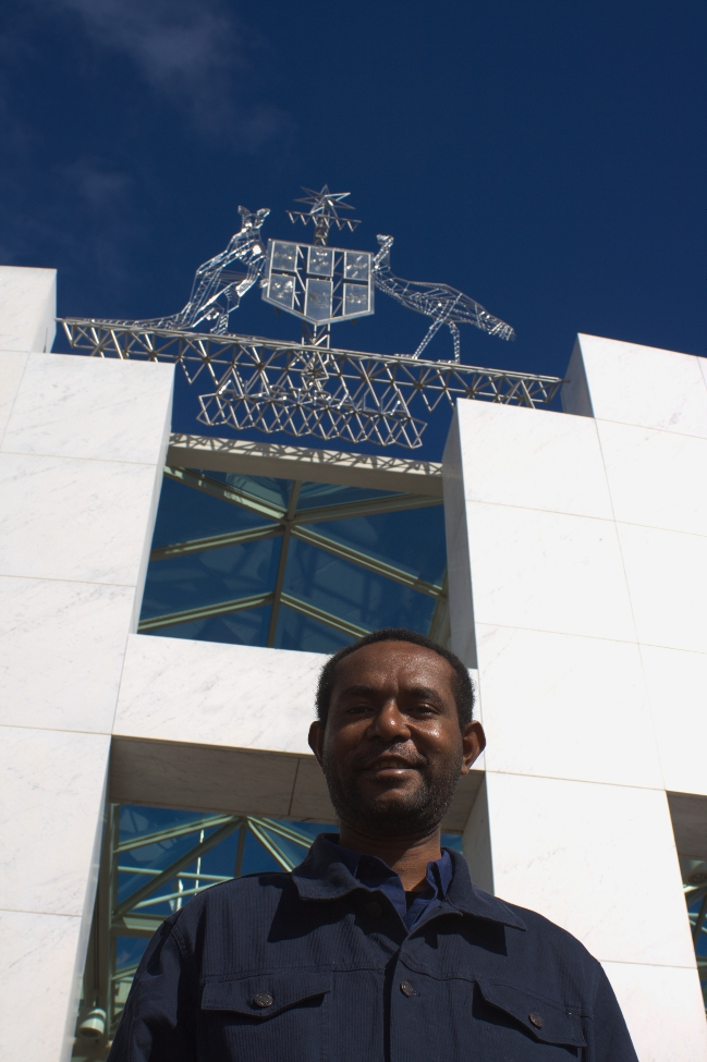 Martyn Namorong at Parliament House