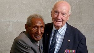 Kokoda veterans Ben Moide and Bill Bellairs