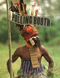 Polling booth warrior
