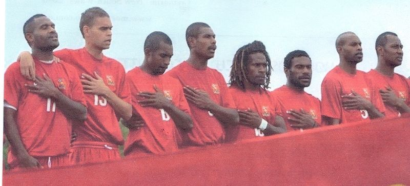 PNG football team - hands on, er, hearts