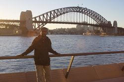 Martyn Namorong and the Sydney Harbour Bridge