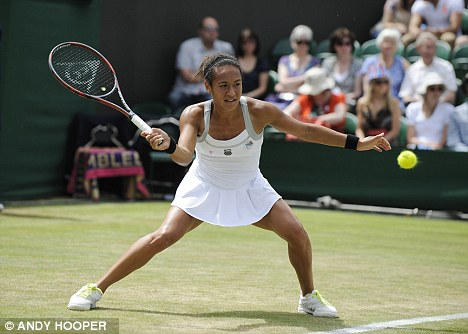 Heather Watson in action