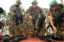 FAMAS rifles surrendered by rebels