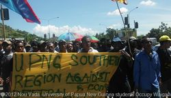 UPNG students on the march