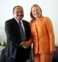 Peter O'Neill and Hillary Clinton