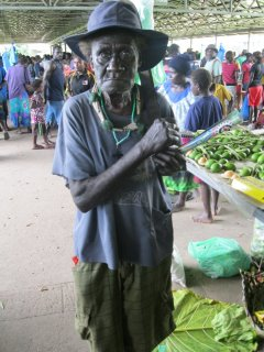 Anthony Ampe at Arawa market (Rodney Banas)