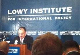 Peter O'Neill at the Lowy Institute