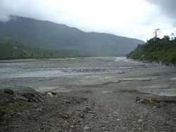 Mine tailings, river headwaters, Tabubil (Image - Peter Kranz)