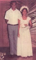Wedding Day - Rev Martin Luther Wayne and Patenama Wayne