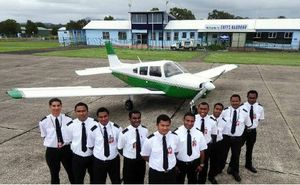 Trainee PNG pilots at Coffs Harbour