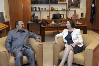 Today's photo of Peter O'Neill with Julie Gillard