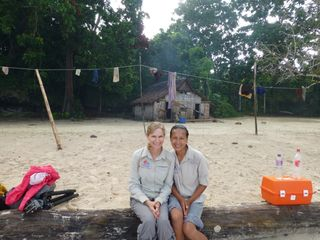 Merrilee and Leah at Djaul Island (P3)