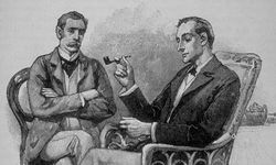 Watson and Holmes at home (Sidney Paget)
