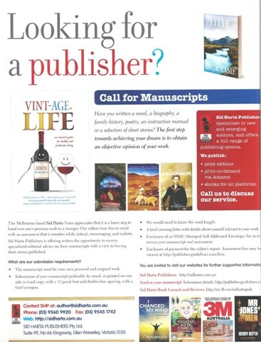 Typical publisher advertisement