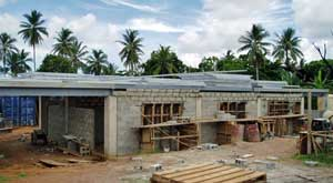 Daru TB ward under construction