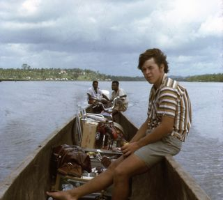 Chris in Eiwo, Kikori, 1971