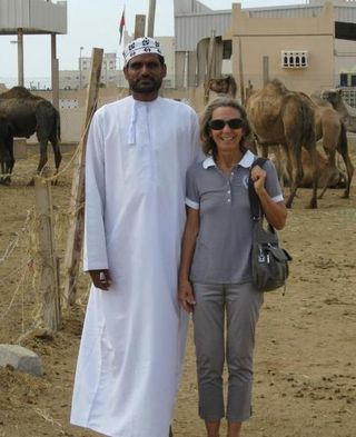Salim and Ingrid at the camel market