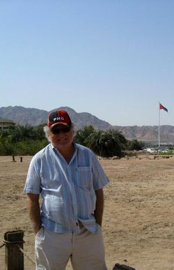 Keith at site of 7th century Islamic town, Aqaba, Jordan