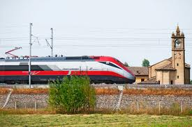 Frecciarosa speeds through the Italian countryside