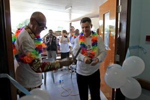 PNG Minister for Health and HIV, the Hon Michael Malabag, and Parliamentary Secretary for Pacific Island Affairs Senator Matt Thistlethwaite