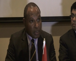 PNG Trade Minister Richard Maru