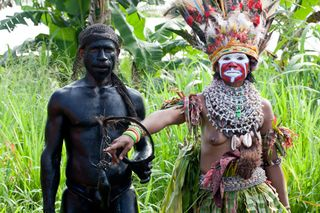 PNG man and woman