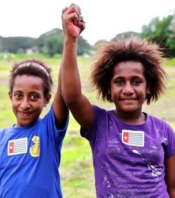 Papuan girls in Port Moresby (Free West Papua)