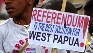 West Papua referendum poster