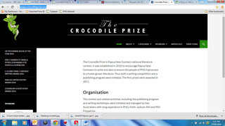 Crocodile Prize website home page