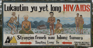 PNG AIDS program sign