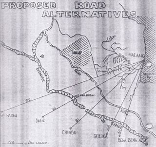 Possible roads to the Highlands 50 years ago