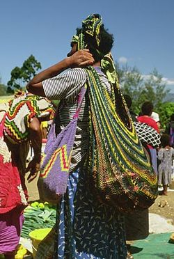 Goroka woman with bilum