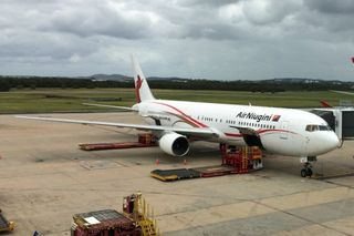 An Air Niugini 767 at Brisbane Airport (Leighton)