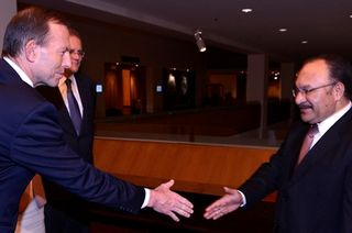 The twain - Tony Abbott meets Peter O'Neill