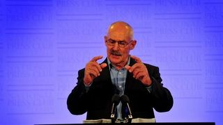 Dr Barry Kirby at the National Press Club (Karleen Minney)