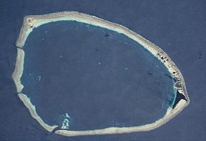 Takuu Atoll (Mortlocks) seen from space (NASA)