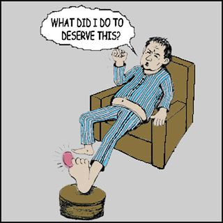 Gout cartoon