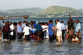 Baptisms in Port Moresby
