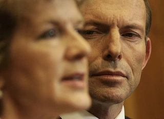 Julie Bishop and Tony Abbott