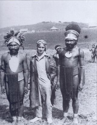 Kevin Parer in New Guinea, 1936