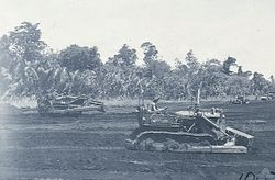 RAAF ground forces begin work on the airstrip at Tadji only a few hours after its capture