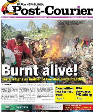 PNG Post-Courier front page