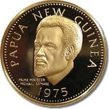 1975 PNG gold K100 coin