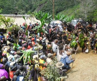 Reunion of the Yuri tribal people after more than 30 years at Iri-maule