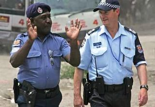 PNG and Australian police officers in Port Moresby